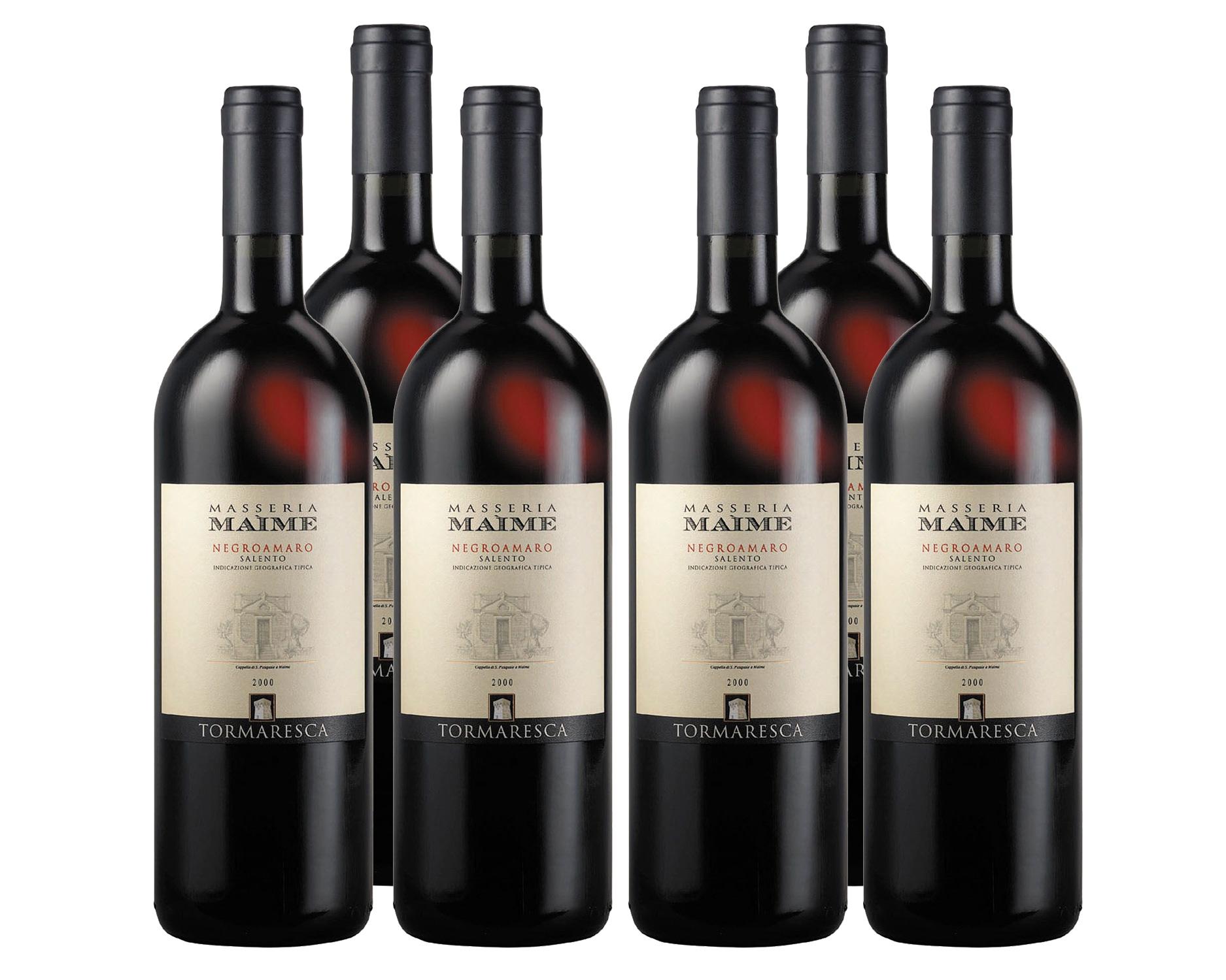 Tormaresca Masseria Maime Negroamaro Salento 2010 (Paket/6 Flaschen)