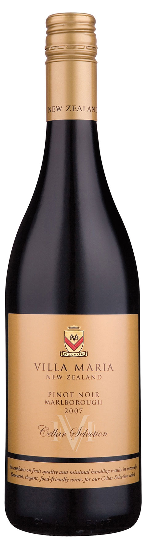 Villa Maria Cellar Selection Pinot Noir Marlborough 2015
