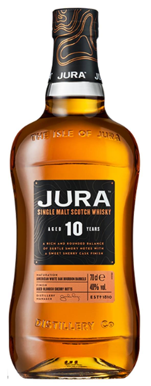 Schottischer Whisky Jura Single Malt Scotch Whisky 10 Years Old