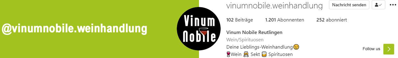 Weine & Spirituosen auf Instagram von Vinum Nobile
