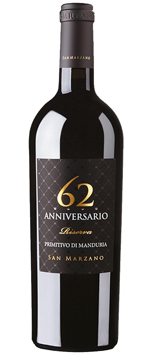 62 Anniversario Riserva Primitivo di Manduria 2017 Cantine San Marzano