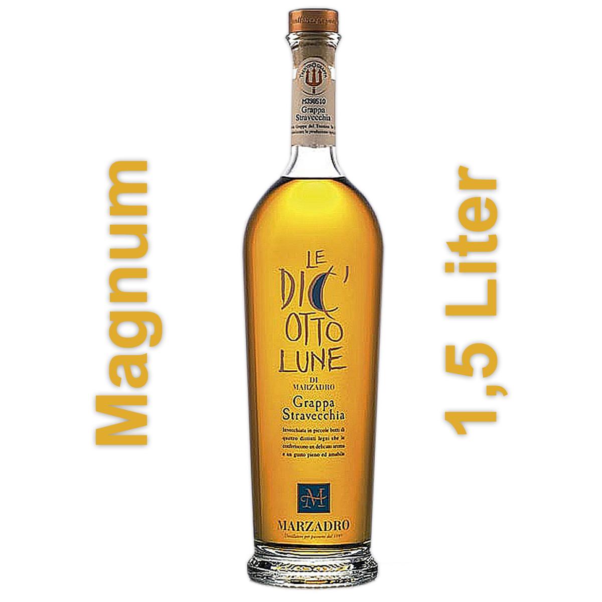 Marzadro Le Diciotto Lune Grappa Stravecchia (1,5 Liter Magnum-Flasche)