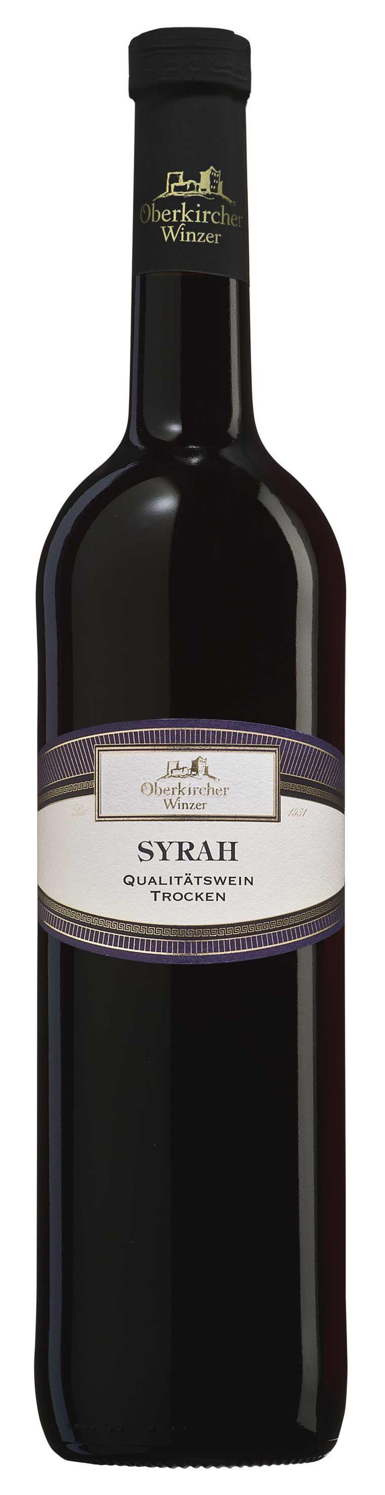 Oberkircher Winzer Syrah Qualitätswein trocken 2015